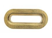 Oeillets ovales Laiton Jaune TIR 36 x 8 mm