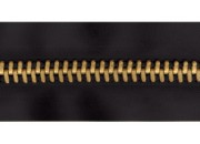 Fermeture éclair 6 mm chaine laiton